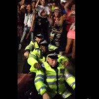 Police twerk and dance to Rock the Boat at Notting Hill Carnival