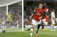 Aaron Ramsey on the double as Arsenal cruise past Fenerbahce