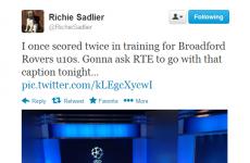 Richie Sadlier's classic response to THAT RTÉ caption