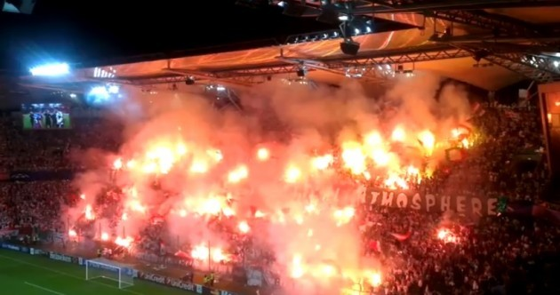 This is how Legia Warsaw fans reacted to being sanctioned by UEFA