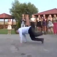 Check out this intense wedding dance-off