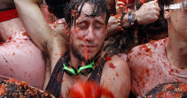 Massive tomato fight looks like the most fun humans can have