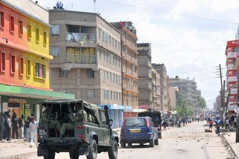 File photo of a street in Nairobi