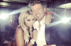What is Robin Thicke's hand doing in this picture?