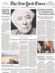 The New York Times pays tribute to Seamus Heaney