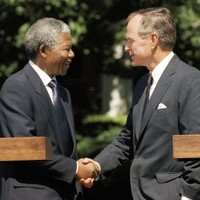 George H.W. Bush spokesman apologises in Mandela 'death' gaffe