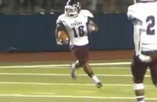 Texas high school score magical last second touchdown and it's NOT a Friday Night Lights script