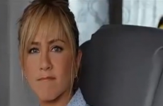 Jennifer Aniston gets ambushed by the Friends theme tune