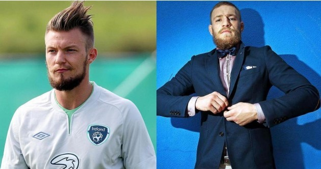 Separated at birth? Ireland midfielder Anthony Pilkington and rising UFC star Conor McGregor