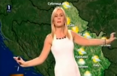 Confused weather woman just dances on camera