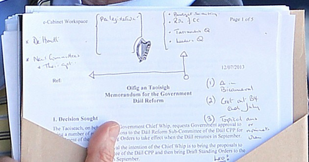 What was on Minister Bruton's agenda today? Well, here are his notes
