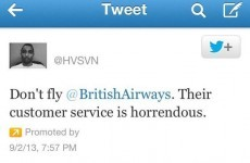 Disgruntled customer uses promoted tweet to embarrass British Airways