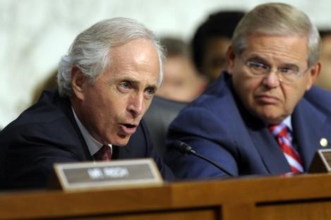 Committee Chairman Robert Menendez and ranking Republican Bob Corker