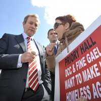 Enda Kenny promises to help Priory Hall residents