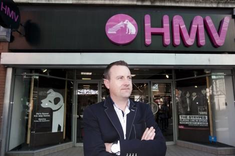 Larry Howard, Hilco Ireland CEO, outside HMV Henry Street, Dublin.