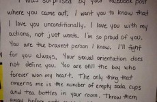 Mother's heartwarming letter after son came out on Facebook