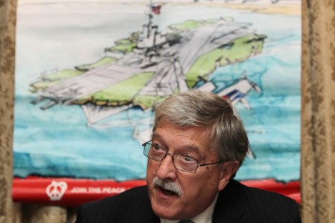 Roger Cole of Peace And Neutrality Alliance pictured at a press conference last year.