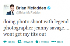Tweet Sweeper: Brian McFadden's Page Three photoshoot