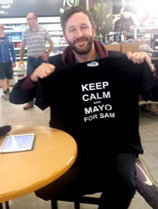 Irish actor Chris O'Dowd backs the 'Mayo for Sam' campaign