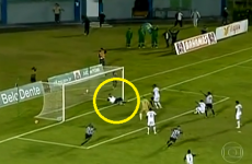 Hilarious hell breaks out in Brazil as team masseur stops certain goal