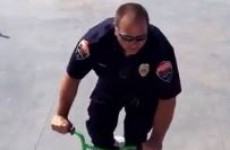 WATCH: Cop borrows kid's bike for a quick 360
