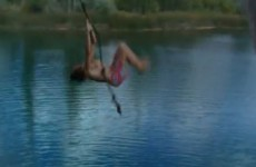 This is how not to back-flip off a rope swing