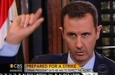 President Assad puts it up to US to produce evidence of chemical attack