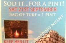 Sligo pub offers a 'pint for a bag of turf'