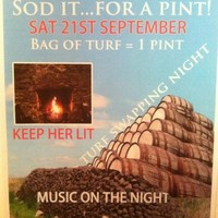 Sligo pub offers a 'pint for a bag of turf'
