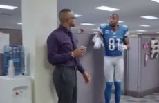 Calvin Johnson shows why he's called Megatron in this cool ESPN ad