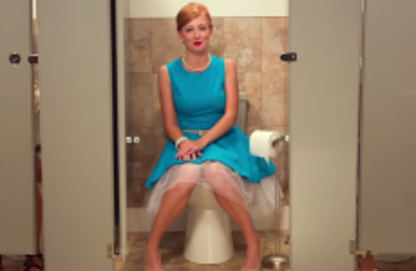 How to use the bathroom with no smell    according to this bizarre ad
