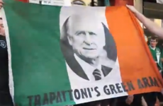 Some Irish fans are still happy with Trap