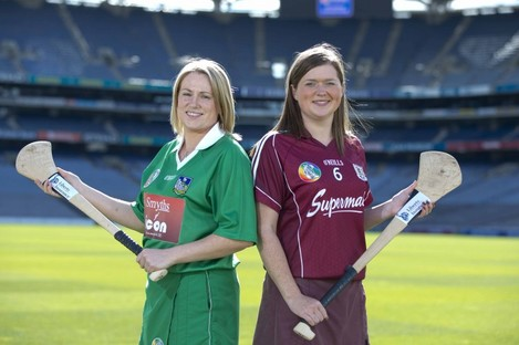 Limerick captain, Michelle Casey and Galway counterpart, Sinead Keane who face off in the intermediate final on Sunday.