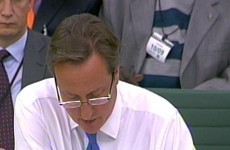 Is this the end? British PM David Cameron debuts his glasses
