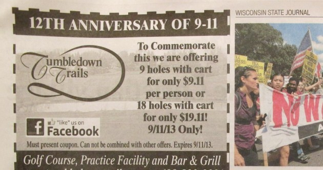 This 9/11 'special offer' almost closed down a golf club