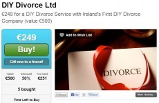Irish deals website offers 'DIY Divorce' for half price