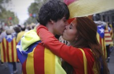 Catalans make a human chain for independence