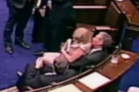 The infamous 'lapgate' incident involving Fine Gael TDs Tom Barry and Aine Collins