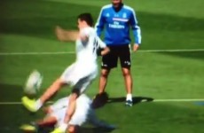 Ronaldo 'welcomes' Bale to Real Madrid with mistimed tackle