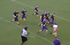 Young quarterback ends epic 40-yard run with a touchdown