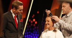 Majella O'Donnell shaves her head live on TV for cancer charity