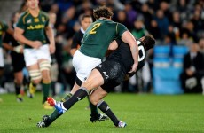 A massive hit on Dan Carter in the All Blacks win over Springboks