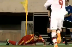 Armenian winger gives a lesson in how not to take a corner kick