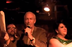 VIDEO: Jon Snow performs Park Life on stage at charity lunch