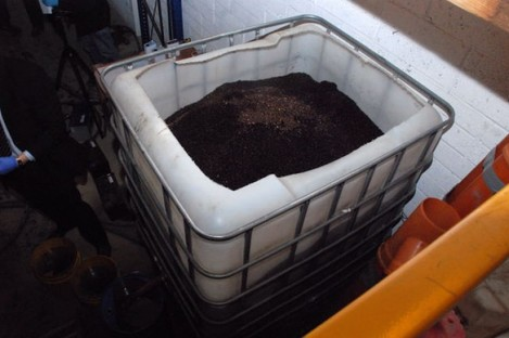 File pic of a fuel-laundering plant that uses cat litter as a filter.