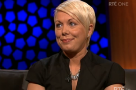 Stephanie Meehan pictured during her appearance on the Late Late show earlier this month.