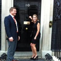 Amy Huberman nik naks number 10 Downing Street
