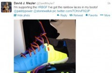 Ireland's David Meyler will be wearing rainbow laces this weekend