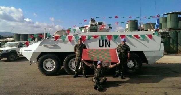 Mayo fans in the army show their true colours on Lebanon tour