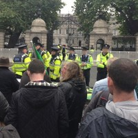 Crowd gathering at 'Lock the government out of the Dáil' protest